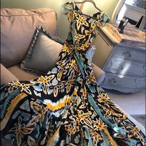 DIANE von FURSTENBERG  long flowing dress